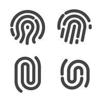 conjunto de señal de huellas dactilares vector