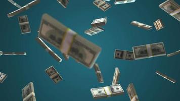 pilhas de dinheiro caindo