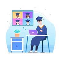 Virtual Graduation Ceremony vector