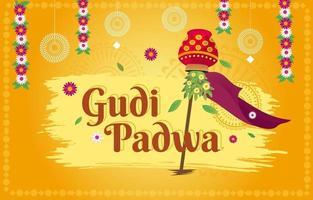 Gudi Padwa Festival Background vector