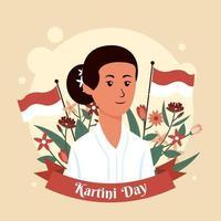 Kartini Day Design vector