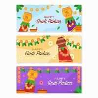 Gudi Padwa Celebration Banner vector