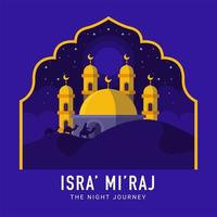 Isra Mi'raj The Night Journey vector