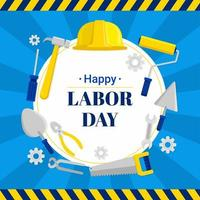 Happy Labor Day Background vector