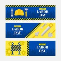 Happy Labor Day Banner Collection vector