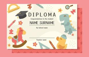 Cute and Fun School Certificate Template vector