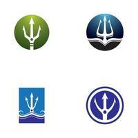 icono de vector de plantilla de logotipo de tridente
