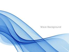 Abstract smooth stylish blue decorative wave background vector