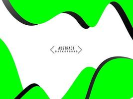 Abstract geometric green wavy pattern with flowing motion design background vector