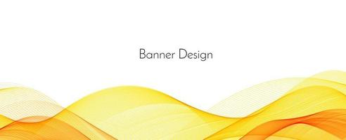 Abstract modern dynamic stylish red and yellow decorative pattern wave banner background vector