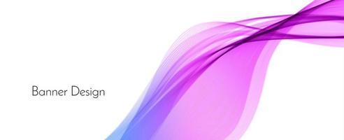Abstract colorful decorative stylish modern wave design banner background vector