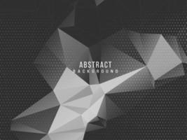 Dark geometric black abstract background elegent design pattern vector