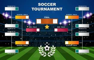 soporte de torneo de fútbol vector