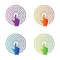 Touchscreen logo images illustration vector