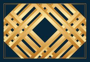 golden Islamic pattern or frame design. editable background template vector