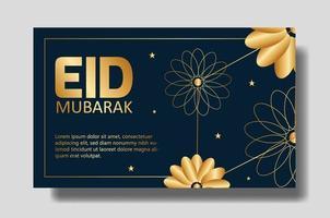 Tarjeta eid mubarak o diseño de banner. plantilla de fondo editable vector