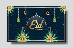 eid mubarak diseño de pancartas o carteles. plantilla de fondo editable vector