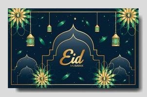 eid mubarak diseño de pancartas o carteles. plantilla de fondo editable islámico vector