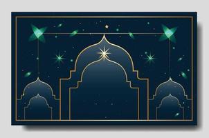 plantilla editable completa de diseño de fondo islámico vector
