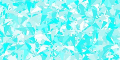 Light blue, green vector background with polygonal forms.