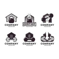 Gym at Home Logo Set vector