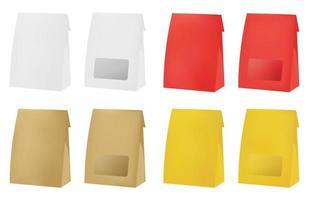 bolsa de plástico y papel vector