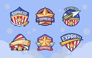 servicios de entrega de paquetes de logotipos de américa vector