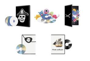 software de piratería pirata vector