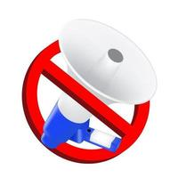 no use señales de prohibición de sonido con megáfono vector