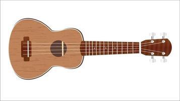 ukulele on white background vector