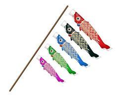 japan koi fish kite on a white background vector