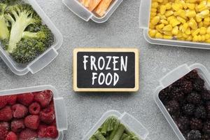alimentos congelados en recipientes tupperware foto