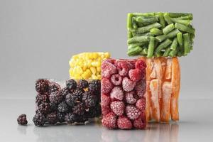 composición de alimentos congelados foto