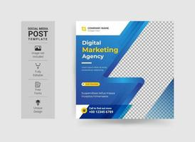 Unique Modern Corporate business conference Social Media banner template. Anyone can use this Easy Design Promotion web banner for social media. Modern elegant sales and discount promotions vector