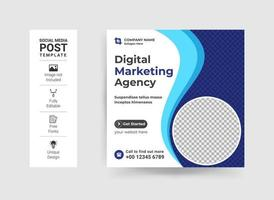 Business promotion and corporate social media banner template vector