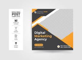 Creative business marketing social media post template vector