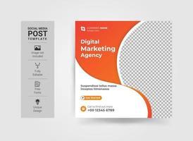 Digital marketing live webinar and corporate social media post vector