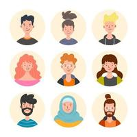 Set of General People Avatars vector