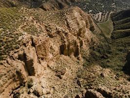 vista aérea de las montañas foto