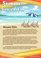 summer vacation with sand  beach poster banner vector