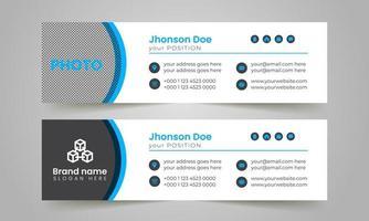 Diseño único de plantilla de firma de correo electrónico corporativo y comercial. vector