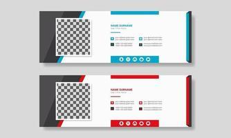 plantilla de firma de correo electrónico con información para su negocio. vector
