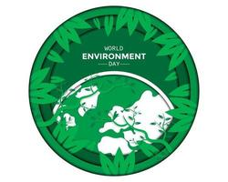 World Environment Day With Leaf vector