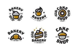concepto de logo de pastel vintage vector