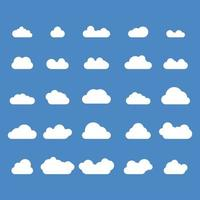 clouds set free vectors pack, blue and white storm, weather icons