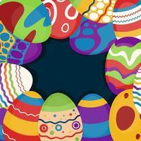 Fondo de huevos de Pascua vector