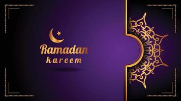 Luxury ornamental mandala logo background, arabesque style. vector