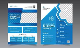 Flyer design template for corporate business layout with graphic elements vector