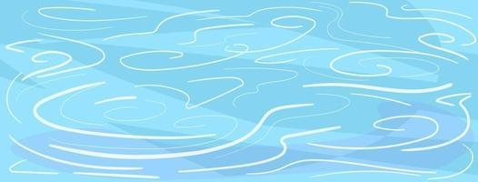 Fondo de pista de hielo con marcas de patinaje y hockey rayado líneas. Plantilla de banner azul con patrón de hielo abstracto. telón de fondo de invierno. concepto horizontal de la estación fría. vista lateral. ilustración vectorial. vector