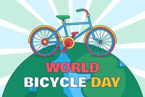 World Bicycle Day Illustration vector